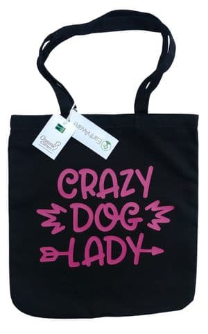 CRAZY DOG LADY PRINTED HEAVYWEIGHT SHOPPER BAG