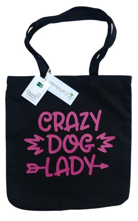 CRAZY DOG LADY PRINTED HEAVYWEIGHT SHOPPER BAG