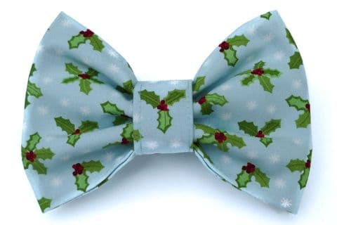 DITSY HOLLY CHRISTMAS BOW TIE