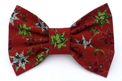 FANCY STARS CHRISTMAS BOW TIE