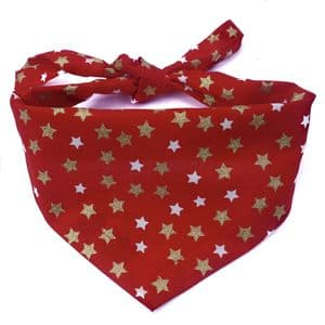 GLITTER STARS  PARTY DOG BANDANA