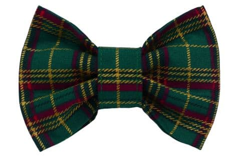 GREEN AND GOLD TARTAN BOW TIE
