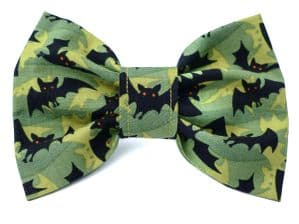 HALLOWEEN DOG BOW TIE WITH BATS