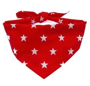 RED SUPERSTAR DOG BANDANA
