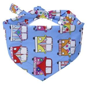 SKY BLUE CAMPERVAN DOG BANDANA
