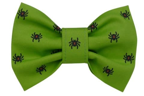 SPOOKY SPIDER HALLOWEEN DOG BOW TIE