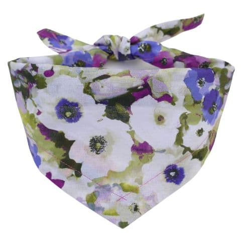 SUMMER BLOOMS FLORAL DOG BANDANA