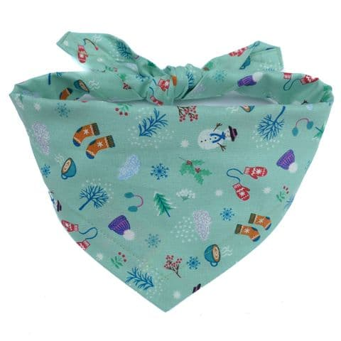 WINTER DAYS DOG BANDANA (ICE GREEN)
