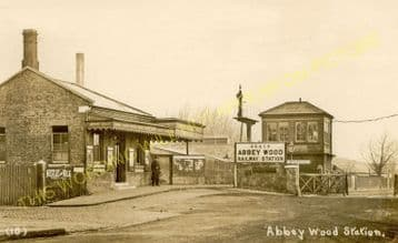 Abbey Wood Railway Station Photo. Plumstead - Belvedere. Woolwich to Erith. (8)