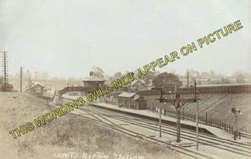 Abbots Ripton Railway Station Photo. Huntingdon - Holme. Peterborough Line. (2)