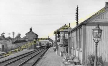 Abbots Ripton Railway Station Photo. Huntingdon - Holme. Peterborough Line. (6).