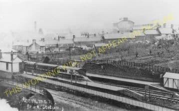 Aberaman Railway Station Photo. Mountain Ash - Aberdare. Taff Vale Rly. (2).