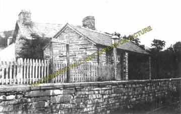 Aberangell Railway Station Photo. Cemmes Road - Dinas Mawddwy. Cambrian Rly. (1)..