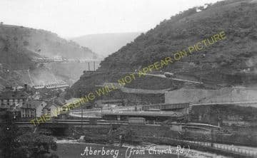Aberbeeg Railway Station Photo. Crumlin to Ebbw Vale and Abertillery Lines. (7)