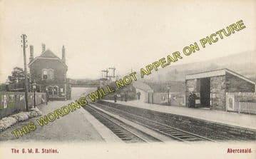 Abercanaid Railway Station Photo. Aberfan - Merthyr. Great Western Rly (2)
