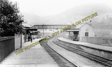 Abercarn Railway Station Photo. Cross Keys - Newbridge. Crumlin Line. (1)