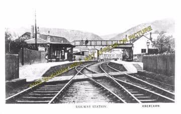 Abercarn Railway Station Photo. Cross Keys - Newbridge. Crumlin Line. (2)