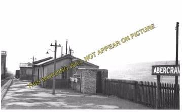 Abercrave Railway Station Photo. Colbren - Ystradgynlais. Pontardawe Line (2).