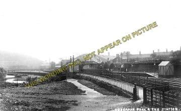 Aberdare Low Level Railway Station Photo. Aberaman and Mountain Ash Line. (1)..