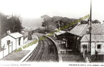 Aberdour Railway Station Photo. Inverkeithling - Burntisland. (3)