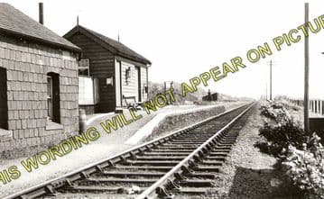 Abererch Railway Station Photo. Pwllheli - Afonwen. Portmadoc Line. (1)