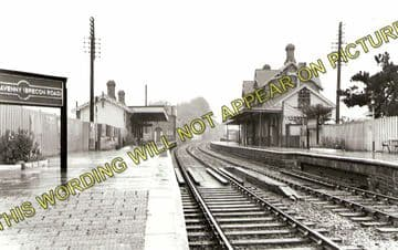 Abergavenny Brecon Road Railway Station Photo. Gilwern and Brynmawr Line. (1)..