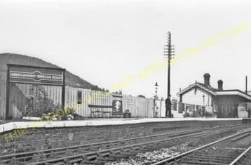 Abergavenny Brecon Road Railway Station Photo. Gilwern and Brynmawr Line. (5)