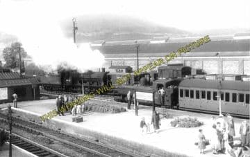 Abergavenny Junction Railway Station Photo. Pontypool - Pontrilas Line. GWR (2)