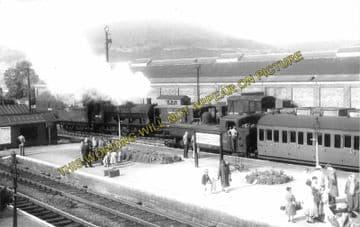 Abergavenny Junction Railway Station Photo. Pontypool - Pontrilas Line. GWR (2)