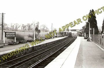 Abergavenny Monmouth Road Railway Station Photo. Great Western Railway. (1)