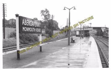 Abergavenny Monmouth Road Railway Station Photo. Great Western Railway. (4)