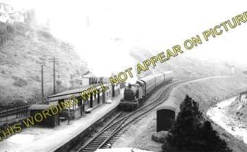 Abergwynfi Railway Station Photo. Blaengarw - Cymmer. Pontycymmer to Maesteg (1)