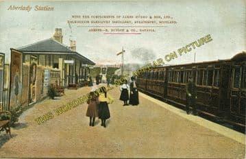 Aberlady Railway Station Photo. Longniddry - Gullane. North British Railway. (1)