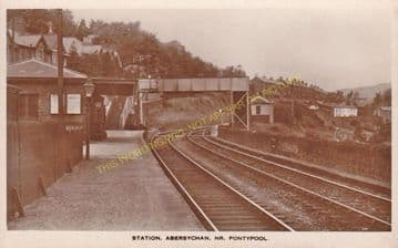 Abersychan Low Level Railway Station Photo. Pontypool - Cwmavon. (2)