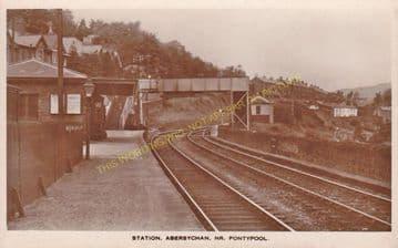 Abersychan Low Level Railway Station Photo. Pontypool - Cwmavon. (2)