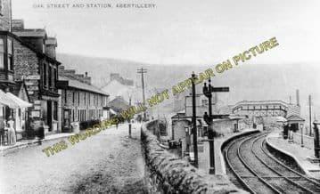 Abertillery Railway Station Photo. Aberbeeg - Blaina. Nantyglo Line. (1)..