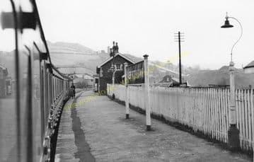 Abertridwr Railway Station Photo. Caerphilly - Senghenydd. Rhymney Railway. (3)