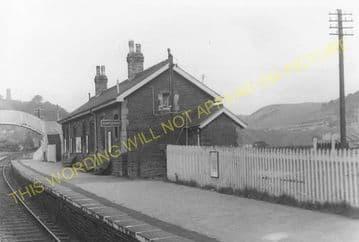 Abertridwr Railway Station Photo. Caerphilly - Senghenydd. Rhymney Railway. (4)