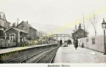 Abertridwr Railway Station Photo. Caerphilly - Senghenydd. Rhymney Railway. (6)