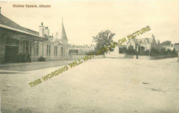 Aboyne Railway Station Photo. Dess - Dinnett. Lumphanan to Ballater Line. (16)