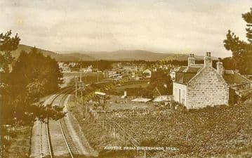 Aboyne Railway Station Photo. Dess - Dinnett. Lumphanan to Ballater Line. (2)
