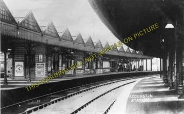 Accrington Railway Station Photo. Burnley to Blackburn and Stubbins Lines. (5)