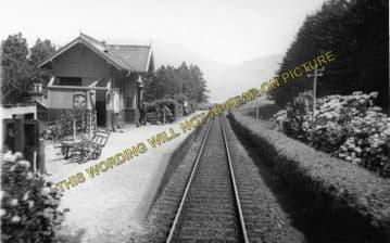 Ach-Na-Cloich Railway Station Photo. Taynuilt - Connel Ferry. Oban Line. (2)