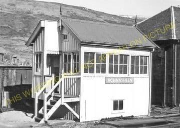 Achnasheen Railway Station Photo. Glencarron - Achanalt. Dingwall Line.  (15)