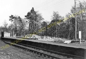 Achterneed Railway Station Photo. Dingwall - Garve. Highland Railway. (3)