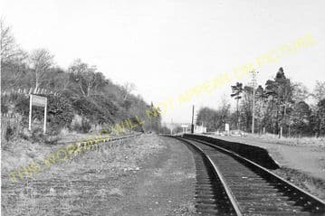 Achterneed Railway Station Photo. Dingwall - Garve. Highland Railway. (5)