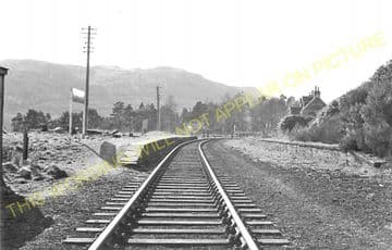 Achterneed Railway Station Photo. Dingwall - Garve. Highland Railway. (6)