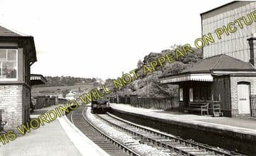 Acrefair Railway Station Photo. Ruabon - Trevor. Wrexham to Llangollen Line. (1)..
