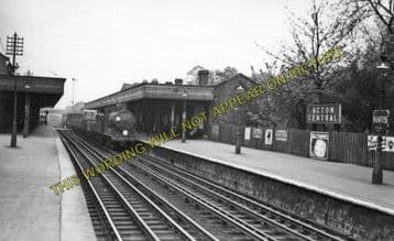 Acton Central Railway Station Photo. Willesden - Kew. North & South Western. (2)