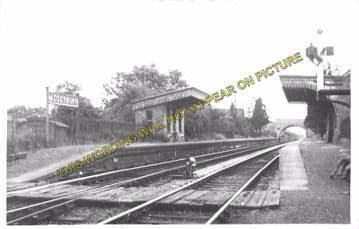 Adderbury Railway Station Photo. King's Sutton - Bloxham. Hook Norton Line. (5)